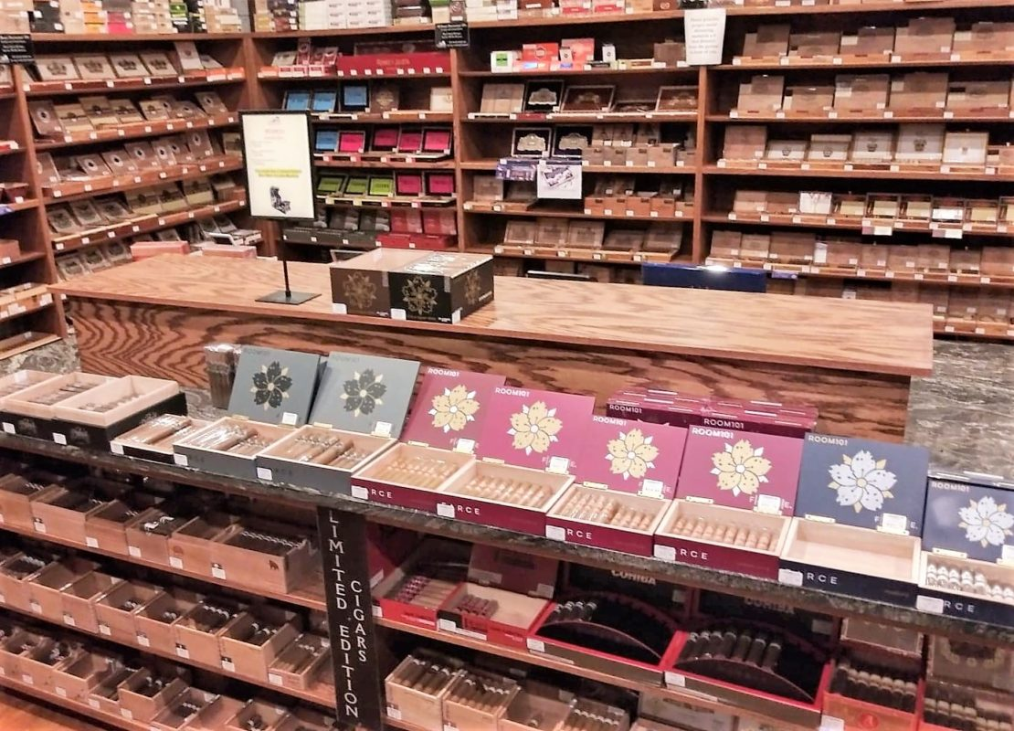 Room 101 Cigars at the Humidour Cigar Shoppe's walk-in humidour