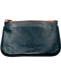 Stokkebye 4th Generation Blue Leather Zipper Pipe Case