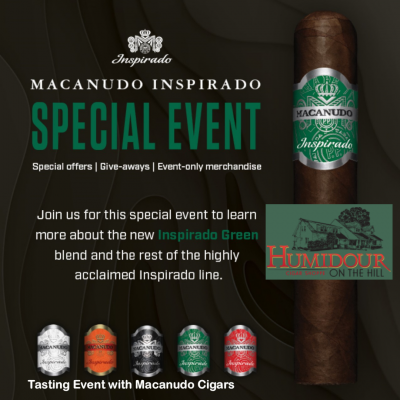 Macanudo Inspirado Cigar Experience at the Humidour in Hunt Valley, MD